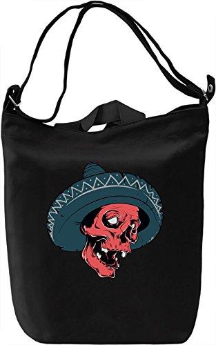 Sombrero skull Borsa Giornaliera Canvas Canvas Day Bag| 100% Premium Cotton Canvas| DTG Printing|