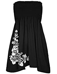 Chocolate Pickle Ladies Floral Print Strapless Mini Dress