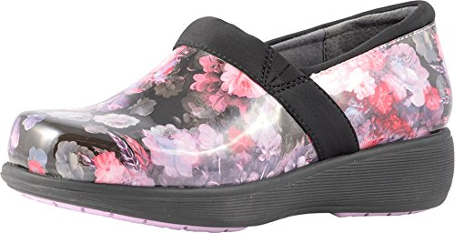 SoftWalk Women's Grey¿s Anatomy Meredith Sport Purple/Pink Floral Patent 9 M - Slip Sport Performance