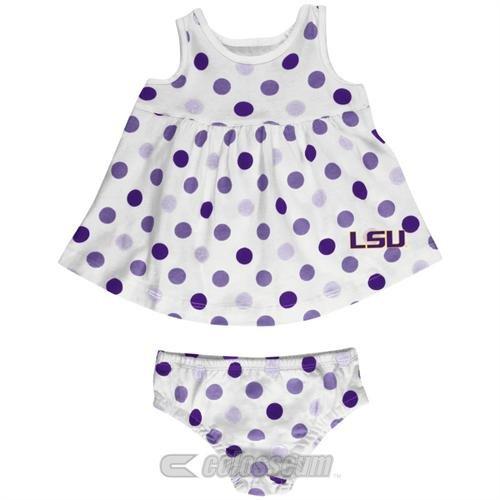 LSU Baby Dotty Sundress and Bloomers Set