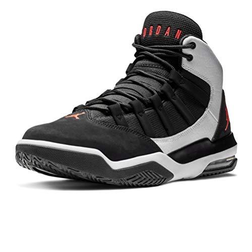 Jordan AQ9084-101: Men's Max Aura White/Infrared 23-Black Sneakers (12 D(M) US Men) (Air Max Jordans)