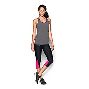 Under Armour Women's Fly-By Capri, Black/Tropic Pink, Small
