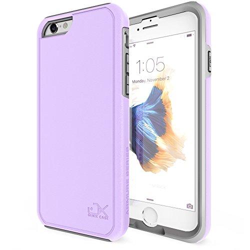 Wood Aluminum Metal Bumper Frame Case For iPhone 6 (Grey) - 4