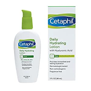 Cetaphil Daily Hydrating Lotion with Hyaluronic Acid, 3.0 Fluid Ounce