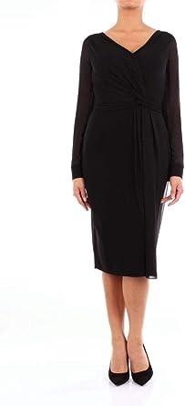 Max Mara Luxury Fashion Damska 12261394NERO Schwarz Viskose Kleid   Jahreszeit Outlet: MAX MARA: Odzież