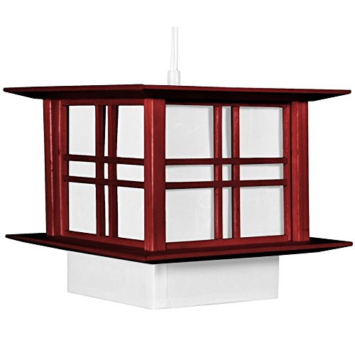 Oriental Furniture Akida Hanging Lamp – Rosewood