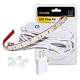 WENICE Sewing Machine Light,LED Lighting Strip kit Cold White 6500k with Touch dimmer and USB Power,Fits All Sewing Machines(Plastic Blister Packaging)