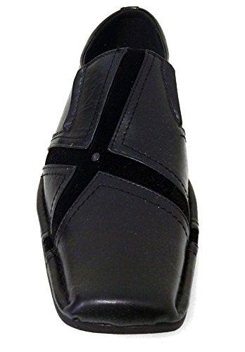 San-04 Uomo Vestito Casual Scarpe Mocassini Moda Slip On Punta Affusolata In Stile Italiano Nero, Marrone, Bordeaux Nero