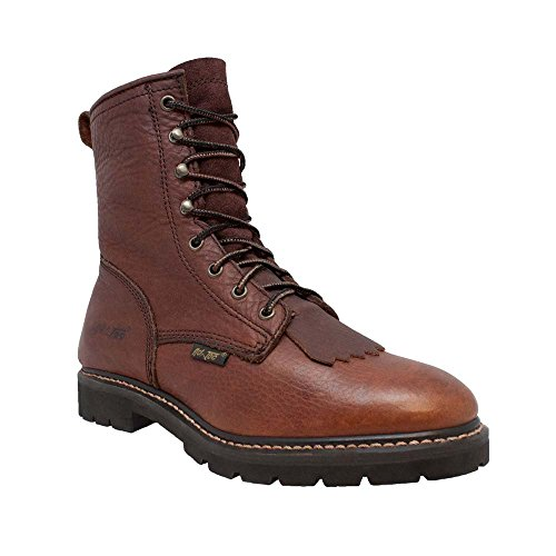 (AdTec Womens Chestnut 8in Lacer Tumbled Leather Work Boots 6 M)