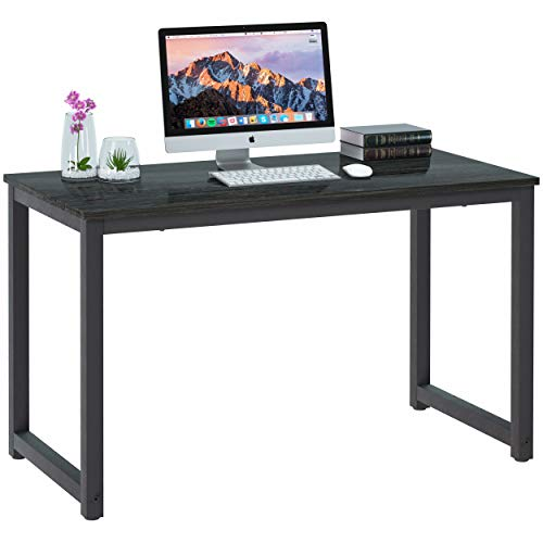 Computer Desk 47quot Mordern Sturdy Office Desk Study Writing Desk for Home Office Coleshome Black