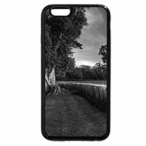 iPhone 6S Case, iPhone 6 Case (Black & White) - Field of Sheep