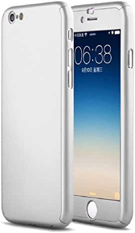 For iPhone 6 4.7inch, Mchoice Luxury Hybrid Tempered Glass + Acrylic Hard Case Cover Skin for iPhone 6 4.7inch