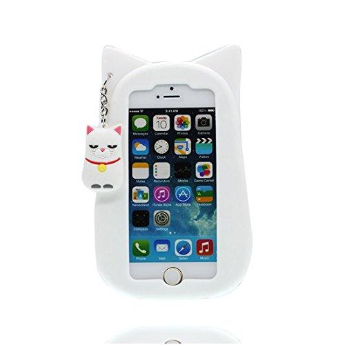 Copertura iPhone 5, Design morbido / TPU Design / CASE Flexible Snap su COVER Copertura per iPhone 5S SE 5C 5G / 3D Cartoon Gatto fortunato