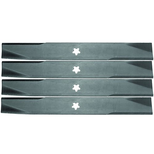 4 Pack  Tractor Supply Aftermarket Premium Replacement Xht 17 3 8  X 2 1 4  Lawn Mower Deck Blade 5 Point Star 4442262