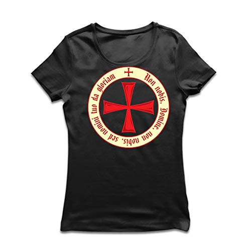 lepni.me Women's T-Shirt The Templar Code Christian Knight Order Crusader's Cross (XX-Large Black Multi Color)]()