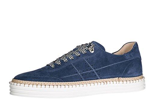 Trainers Shoes r260 Suede Hogan Men's Sneakers blu C5wqtw