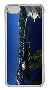 Customized iphone 5C PC Transparent Case - Crater Lake Wizard Island Personalized Cover