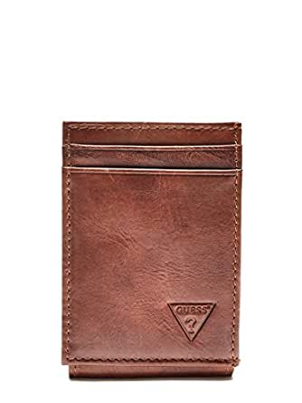 GUESS mens 31GU16X005 Naples & Montana Slim Front Pocket Wallet Wallet - brown - One Size