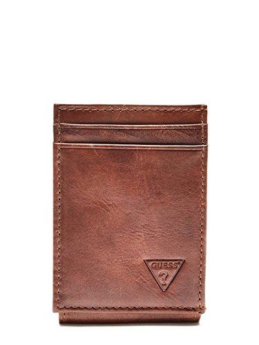 Guess Men's Naples  Slim Front-Pocket Wallet, Tan, One - Men Naples