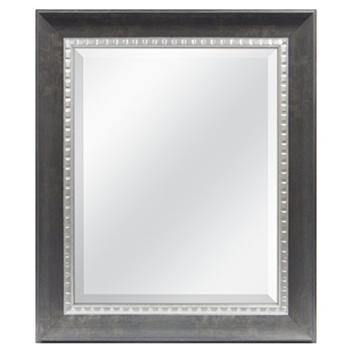 MCS 16x20 Inch Sloped Mirror, 21.5x25.5 Inch Overall Size, Bronze -