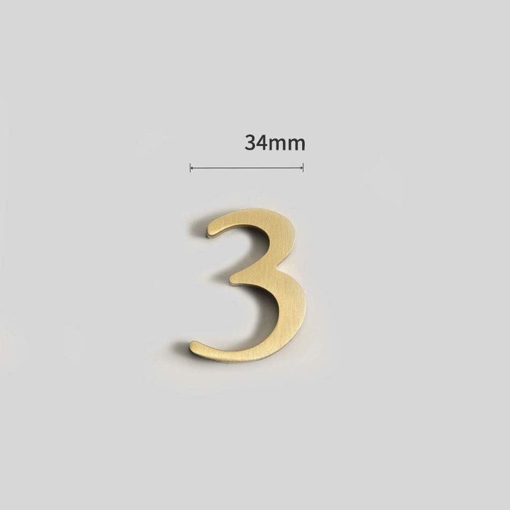 LXJ Los Números Que Figuran, Decoración, Señales De Calle, De Doble Cara De Stent Dirección, Decorativo, Pegatinas Autoadhesivas Casa Digital De Las Cartas De Números De Metal De Cobre, El Cobre