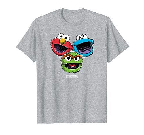 Sesame Street Halftone Heads T Shirt