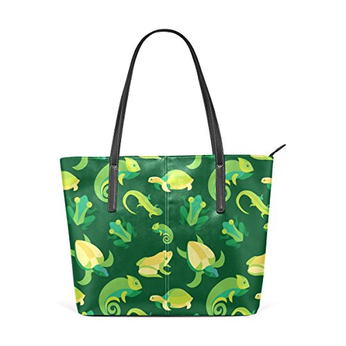 Leather Frogs Top Reptiles Handbag Shoulder And Handle PU Purses Totes Bags Fashion Women's TIZORAX Xqd8ZX