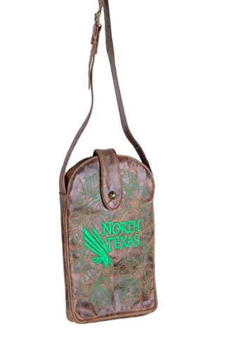 NCAA North Texas Mean Green Women's Cross Body Purse, Brass, One Size by Gameday Boots