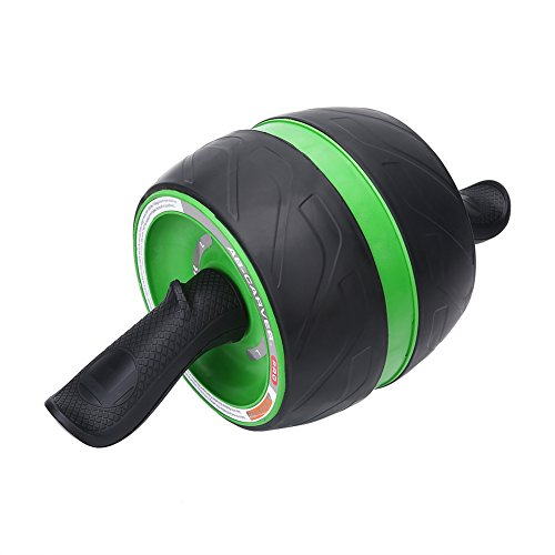 Zerone Ab Roller, Abdominal Wheel Fitness Equipment for Abdominal Core Fitness Workouts and Abs Training with Knee Mats and Instruction (Green&Black)