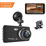 "[2019 New Version] Apexcam Dash Cam 4"" IPS 1080P FHD Driving Recorder Front"