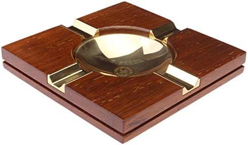 シガー灰皿クリエイティブ灰皿ソリッドウッドメタルホームエッセンシャルシガー灰皿