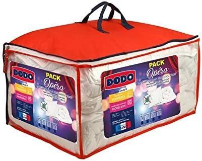 Dodo Pack Opera – 1 edredón Templado 240 x 260 cm + 2 Almohadas 60 x 60 cm – Antiácaros: Amazon.es: Hogar