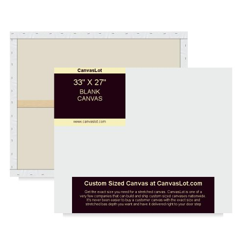 CanvasLot 33 x 27 Huge Stretched Plain Canvases