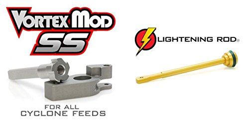 Techt Paintball Upgrade Package for Tippmann Cyclone Feed Systems A-5 X7 Phenom 98 - Includes Lightening Rod + Vortex Mod SS ()
