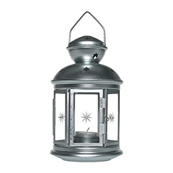 Ikea Rotera Laterne Für Teelicht Verzinkt 21cm Amazonde Küche
