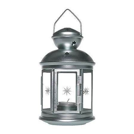 IKEA ROTERA - Lanterne pour bougie chauffe-plat, blanc - 21 cm
