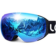 Tips on How to Care Your Goggles: Please don't use finger or rough cloth to wipe and clean the lens as it may scratch the lens and reduce the performance of the anti-fog. Please only use the pouch provided or soft cleaning tissue to gently wi...