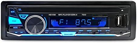 1ディン12V カーオーディオ MP3プレーヤー 車ラジオ BluetoothカーステレオインダッシュFM AUX入力レシーバーSD USB MP3 MMC WMA MP3プレーヤー