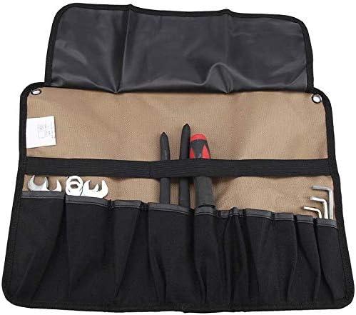 ツールバッグ 巻きツールケース 工具バッグ 小物整理ケース 工具差し ツールロールポケット 保管バッグ 工具入れ バックル固定用 600Dオックスフォード 防水 軽量 持ち運び容易 耐久性 耐磨耗性