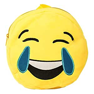 Goldedge GE-B13 Round Emoji Laughing Back Pack - Yellow