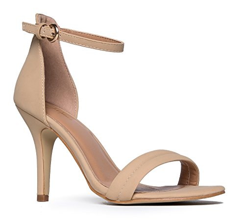 Ankle Strap High Heel Strappy Sandal - Dress Wedding Shoe - Sexy Comfortable Pump - Marvel by J Adams