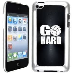 Apple iPod Touch 4 4G 4th Generation Black B1896 hard back case cover Go Hard Volleyball