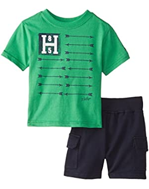 Tommy Hilfiger Baby Boys' Graphic Tee and Short Set
