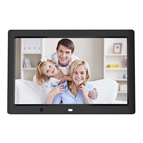 Digital Photo Frames by HOBFU 12-Inch 1080P HD LED Electronic Picture Frames, Multifunction Digital Picture Display 1280×800 with 8GB Storage, Black