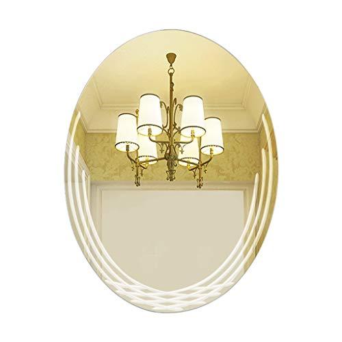 Espejo De Baño Espejo De Montaje En Pared Ovalado Espejo De Maquillaje De Dormitorio Espejo A Prueba De Explosiones (Color :...