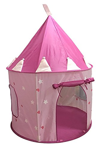 SueSport Girls Princess Castle Play Tent, Pink -