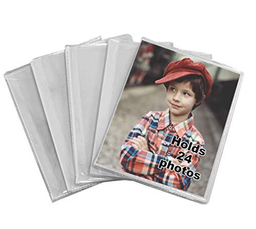 Iconikal 24-Photo Clear Cover 4x6 Photo Album, 5-Pack
