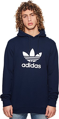 (adidas Originals Men's Trefoil Hoodie Collegiate Navy Small)