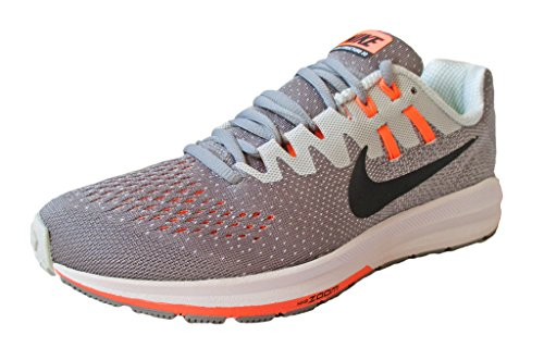 Nike Womens Air Zoom Structure 20 Running Shoes, Stealth/Pure Platinum/Bright Mango/Black Size 8
