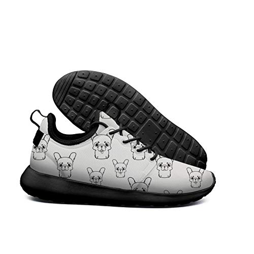 white Womens Shoes French Shoe AKDJDS Running skateboard French Puppies Bulldog bulldog Sneakers on RIzwqF8